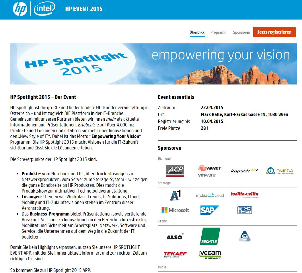 >HP Spotlight 2015